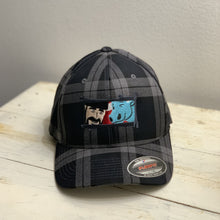 Paul Bunyan and Babe the Blue Ox Gray Buffalo Plaid Flexfit Hat