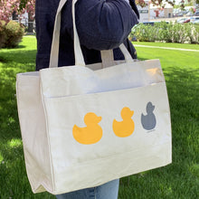 Duck Duck Gray Duck Large Pocket Tote