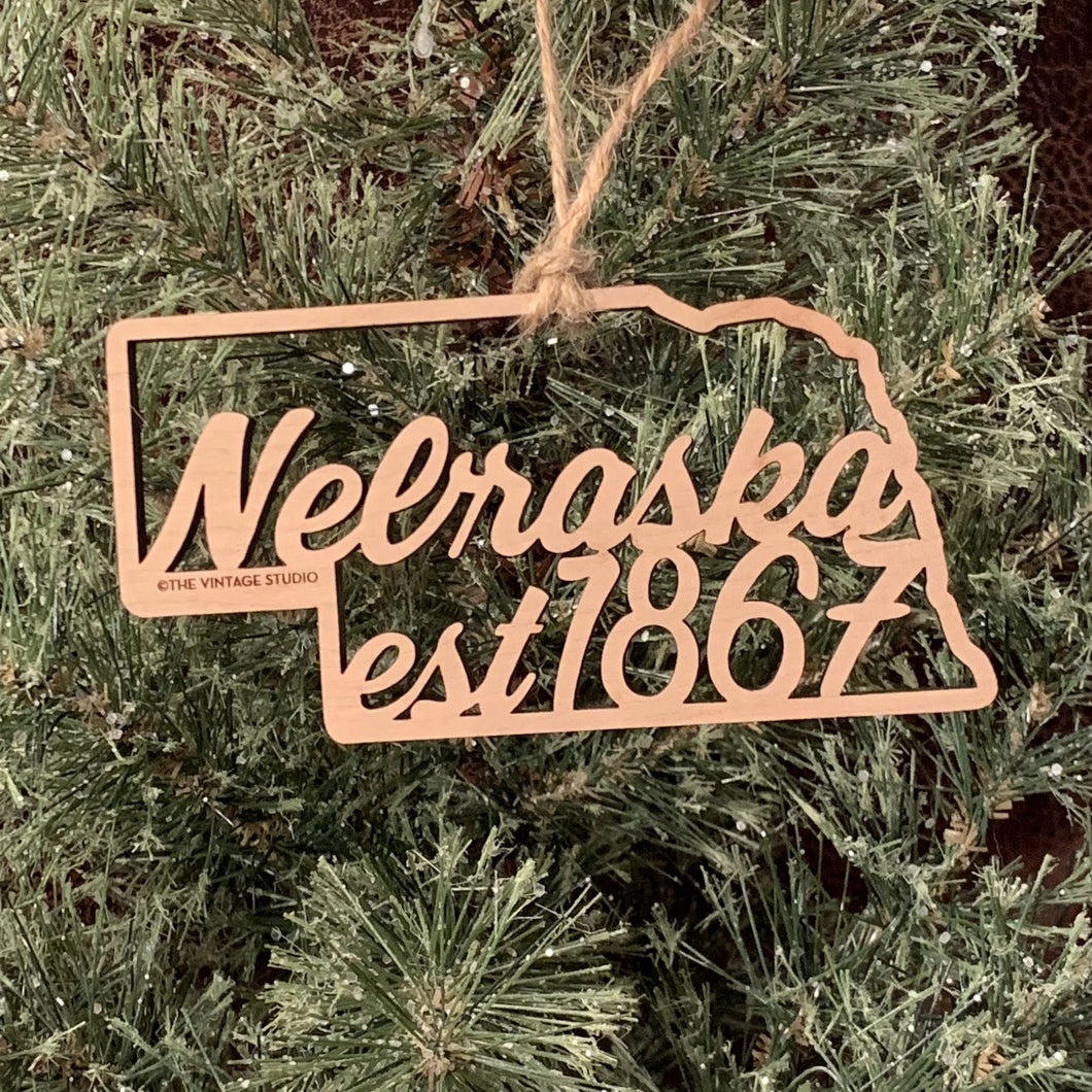 Nebraska Filigree State Ornament