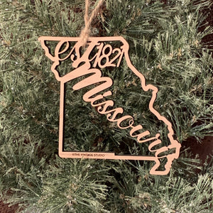 Missouri Filigree State Ornament