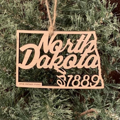 North Dakota Filigree State Ornament