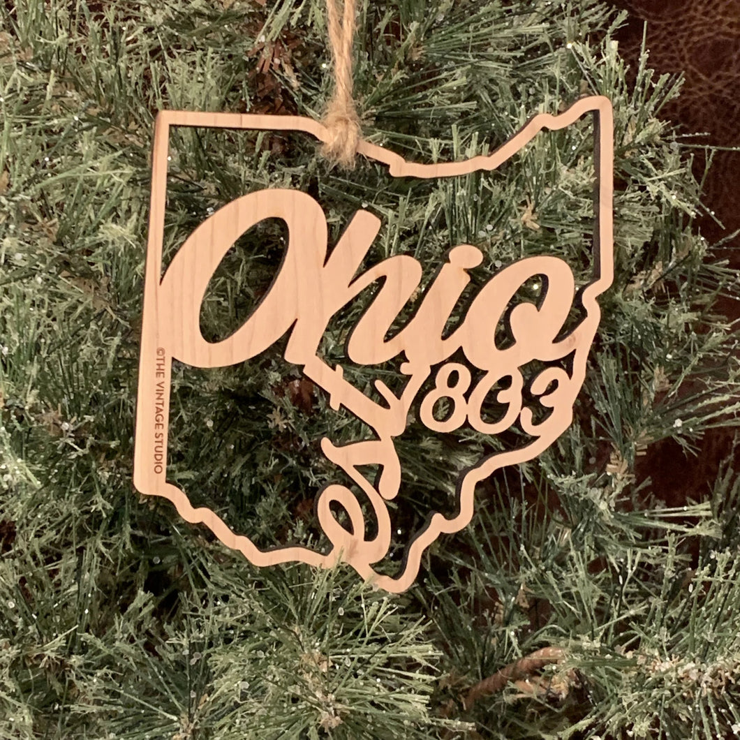Ohio Filigree State Ornament