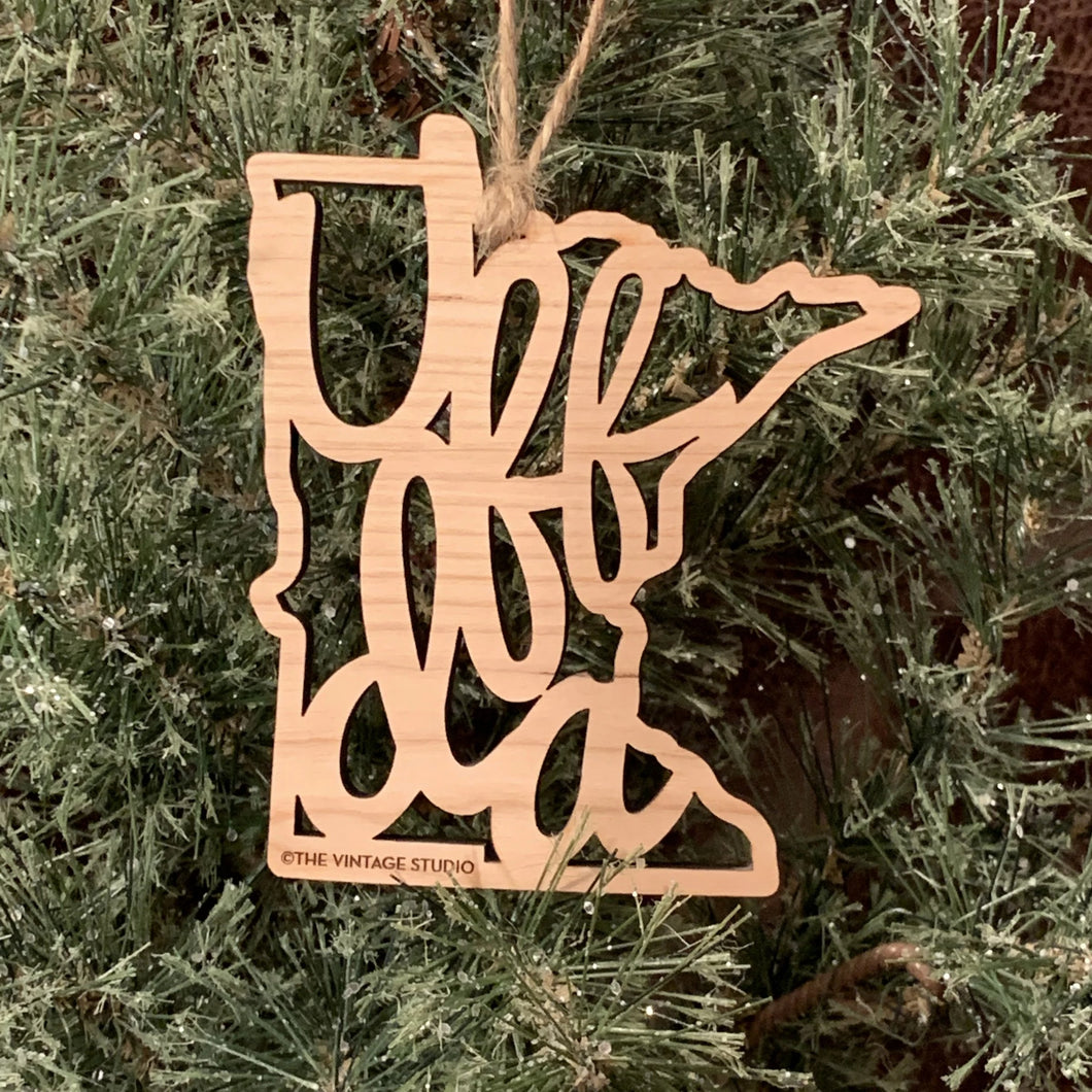 Minnesota Uffda Filigree Ornament
