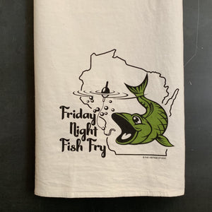 Wisconsin Fish Fry Flour Sack Towel