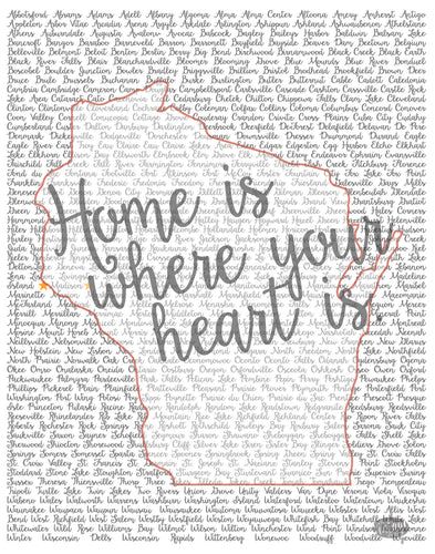 Wisconsin Home is Where Your Heart Is... Print