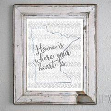 Minnesota Home is Where Your Heart Is... Print
