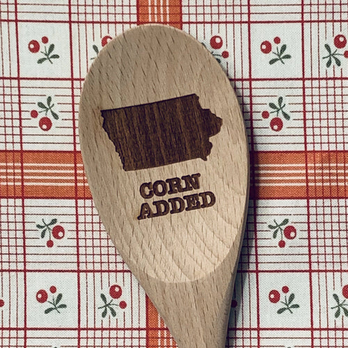 Iowa Corn Added Wood Spoon