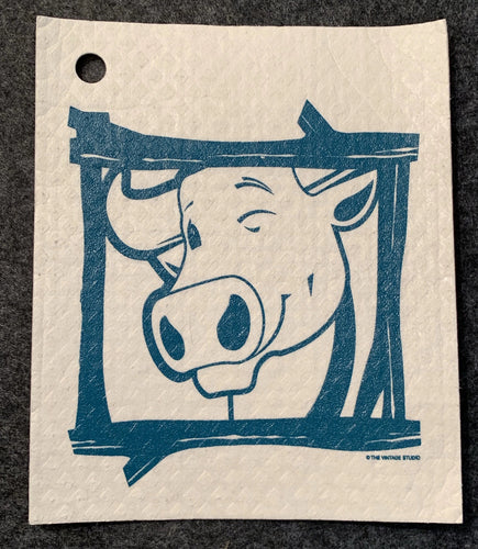 Babe the Blue Ox Swedish Dishcloth