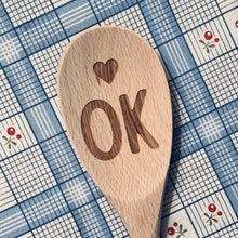 Oklahoma <heart> OK Wood Spoon