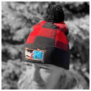 Paul Bunyan and Babe the Ox Buffalo Plaid Beanie