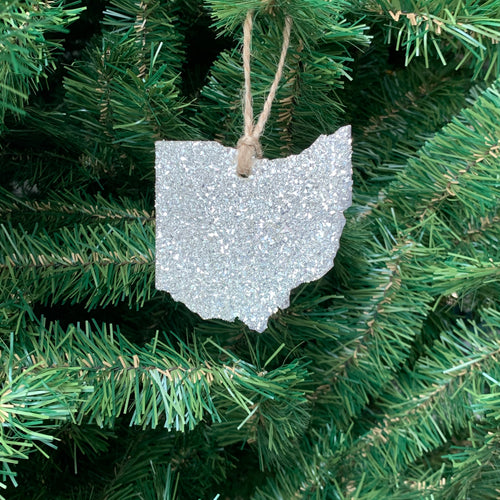 Ohio Glass Glitter Ornament