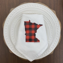 Minnesota Buffalo Plaid Flour Sack Napkin Set of 4