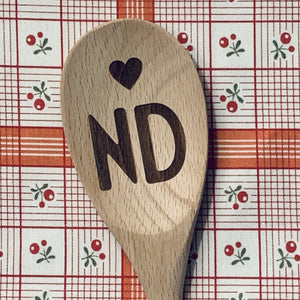 North Dakota <heart> ND Wood Spoon
