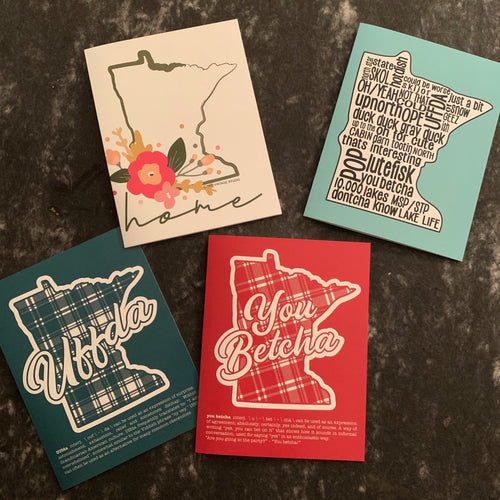 Minnesota Notecards Boxed Set of 12 - 3 each design