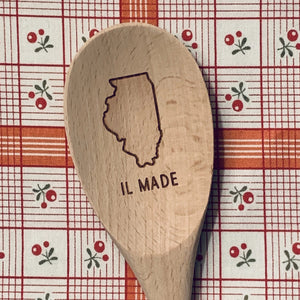 Illinois IL MADE Wood Spoon