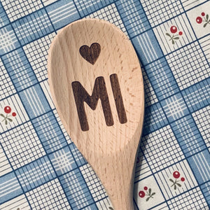 Michigan <heart> MI Wood Spoon