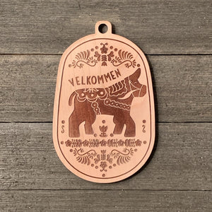 Dala Babe the Blue Ox Wood Ornament