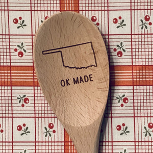 Oklahoma OK MADE Wood Spoon