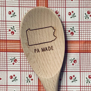 Pennsylvania PA MADE Wood Spoon