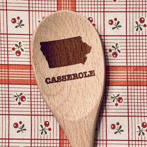 Iowa Casserole Wood Spoon