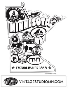 FREE Minnesota Patches Coloring Page