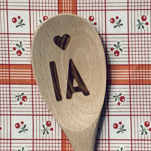 Iowa <heart> IA Wood Spoon