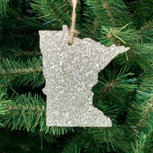 Minnesota Glass Glitter Ornament