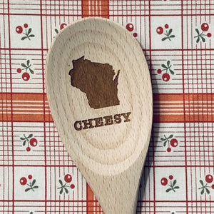 Wisconsin Cheesy Wood Spoon