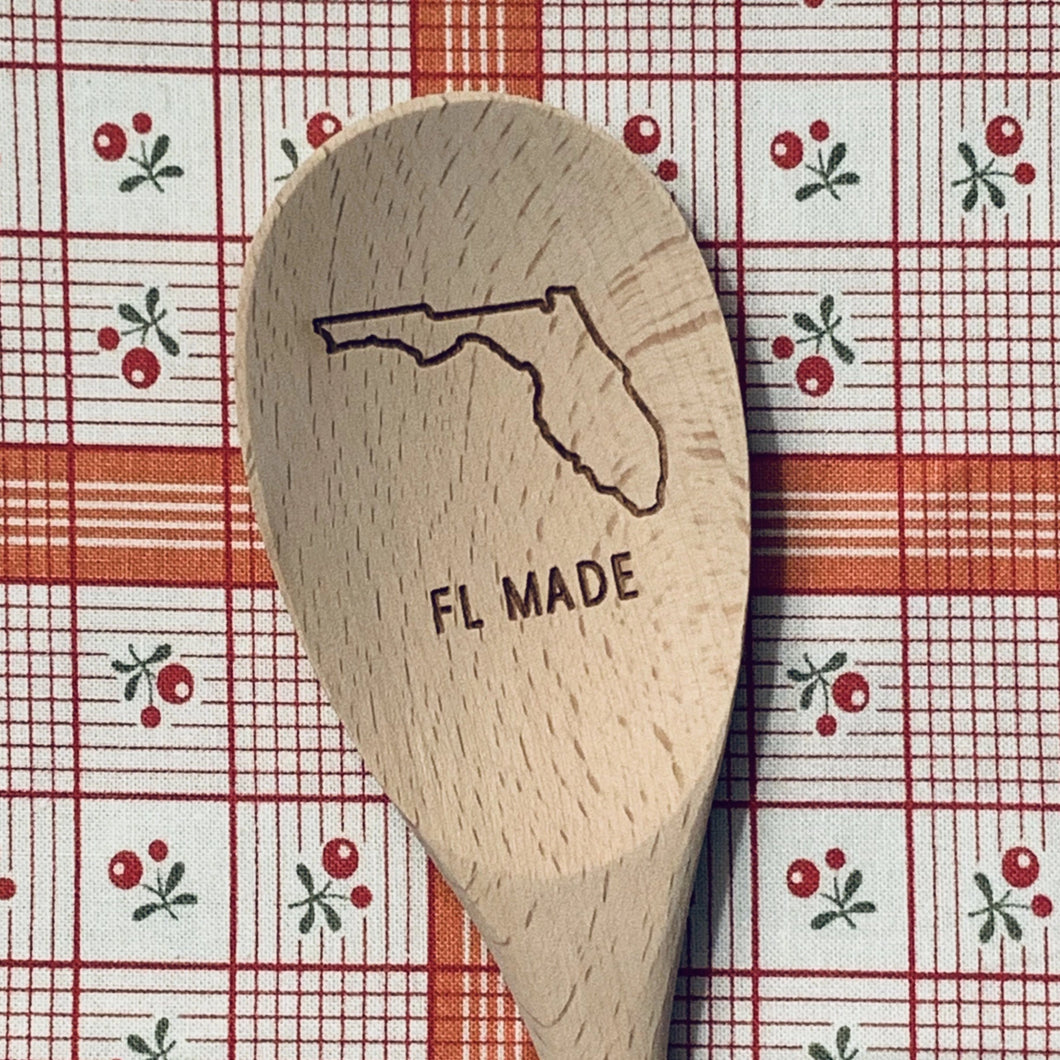 Florida FL MADE Wood Spoon