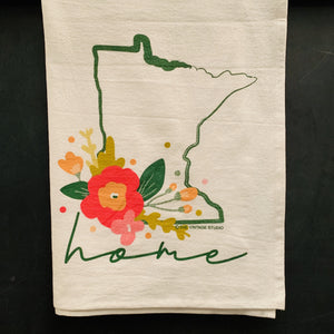 LIMITED EDITION-Minnesota Floral Home Flour Sack Towel