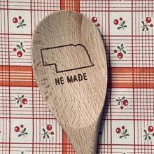 Nebraska NE MADE Wood Spoon