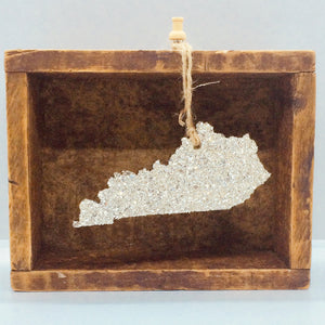 Kentucky Glass Glitter Ornament