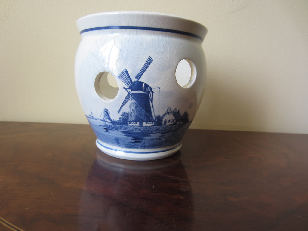 Delft Ivory & Blue Planter Holland