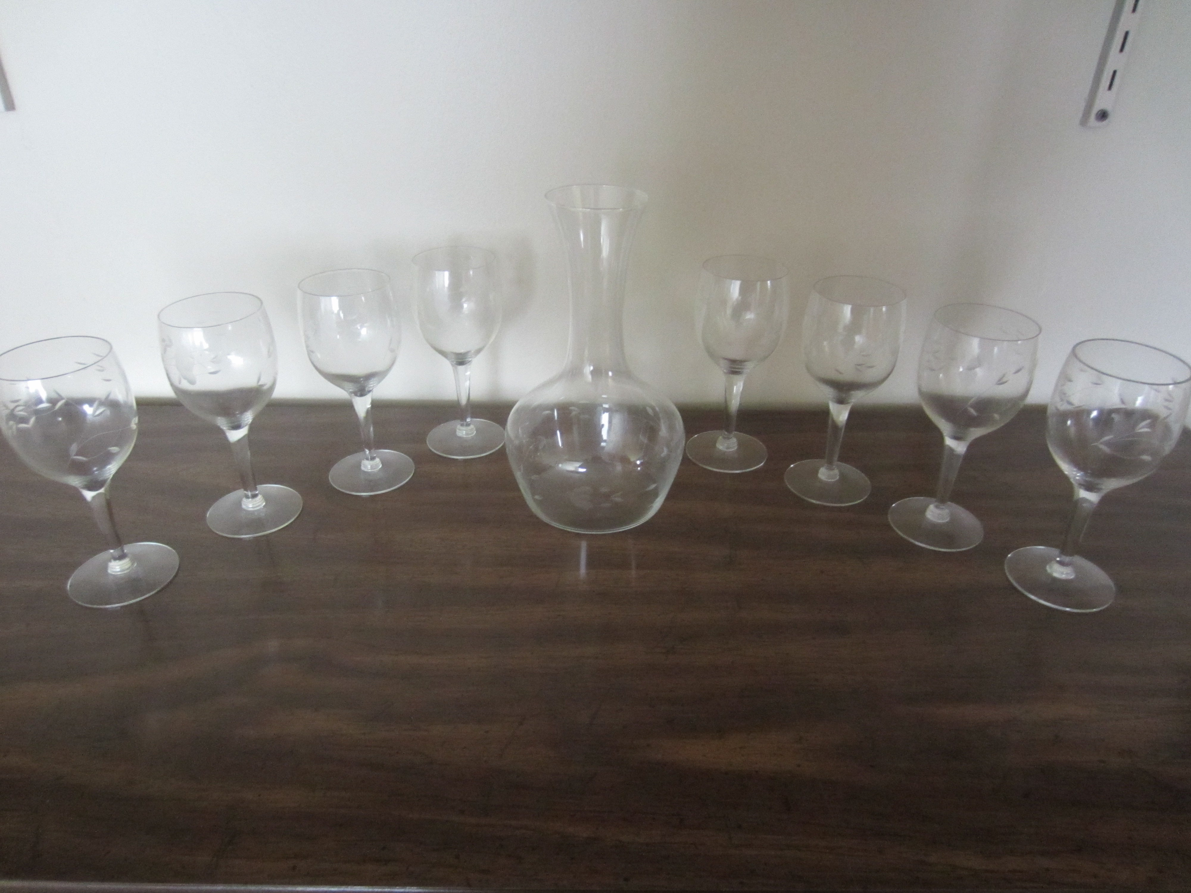 Princess House Crystal Wine Decanter and Glass Set