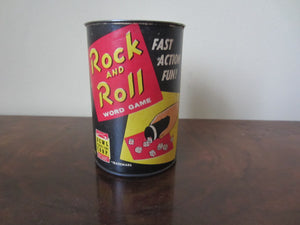 Vintage 1957 Dewl Toy Co. Rock And Roll Dice/Word Game.