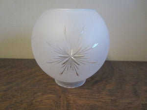 Small Frosted Globe Shade with Starburst