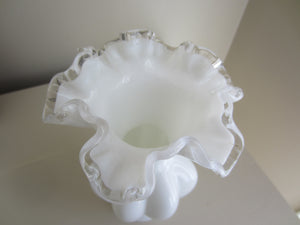 Fenton Vase with Ruffled Edge