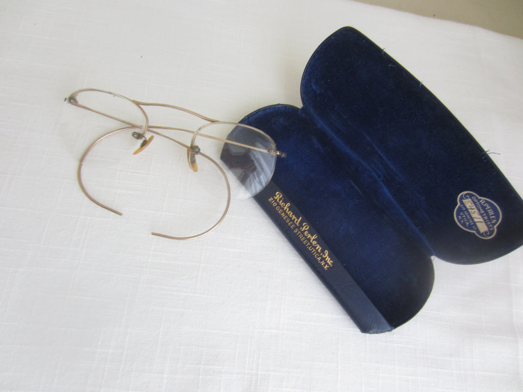 Antique Vintage Windsor Style Eye Glasses Gold Filled