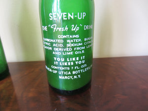 Pair of Vintage 7 Up Soda Pop Bottles