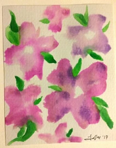 Watercolor Flowers - Abstract Flower Painting - Simple Flower Painting