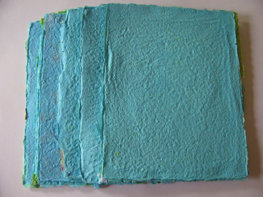 turquoise paper