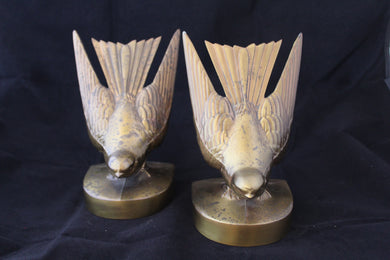 Vintage PM Craftsman 402 B Brass bookends