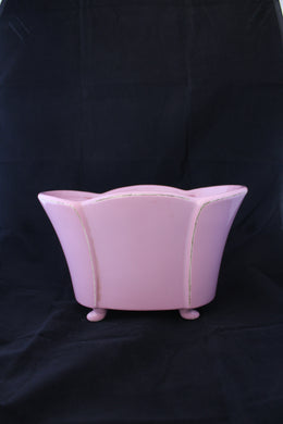 Art deco style pink planter