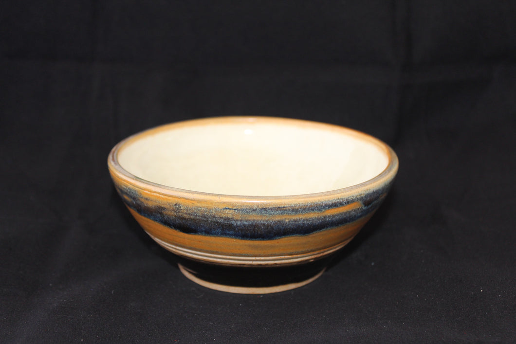 Clay striped pattern bowl