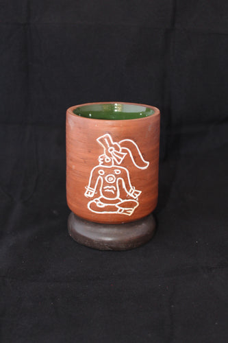 Clay Mexican cup signed