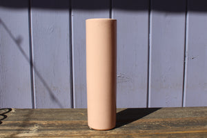 Leaner retro rose colored vase