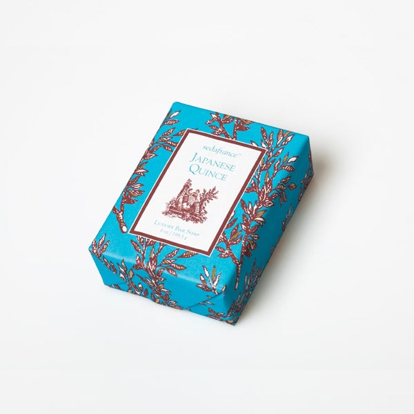 Japanese Quince Classic Toile Wrapped Soap - Charlie James & Company