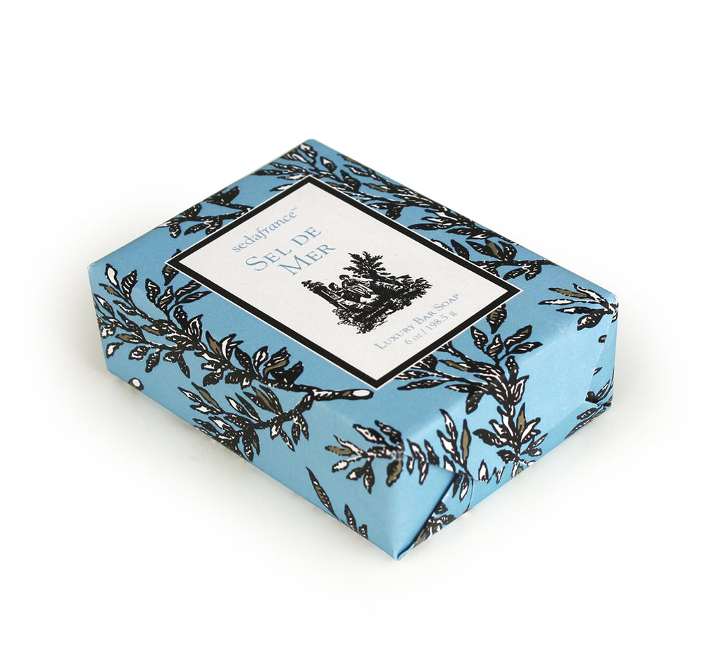 Sel de Mer Classic Toile Wrapped Soap - Charlie James & Company