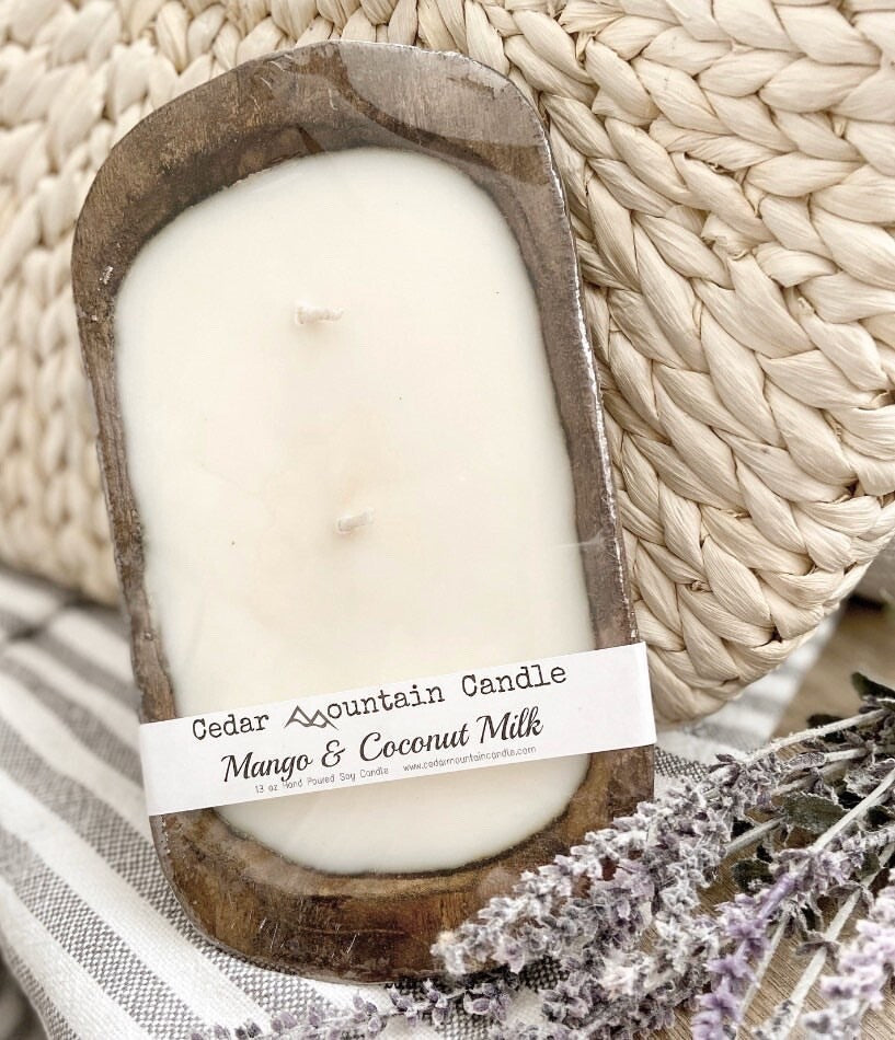 Dough Bowl Candle (Natural) - Sea Salt & Orchid