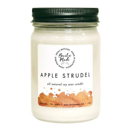 Apple Streudel 12 oz Candle - Charlie James & Company